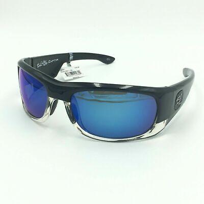 Salt Life Captiva Men's Sport Sunglasses Gloss Blk Crystal Clear  w/ Smoke Blue (Salt Life Sunglasses)