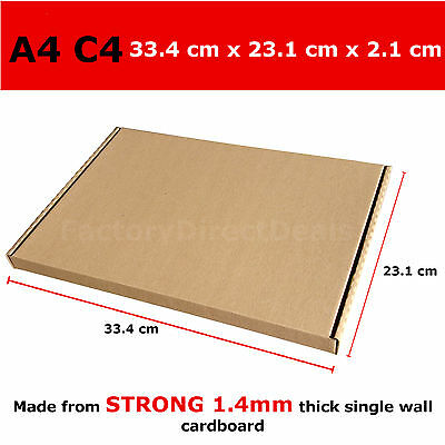 1000 x POSTAL BOXES SIZE C4 A4 ROYAL MAIL LARGE LETTER STRONG CARDBOARD BOX