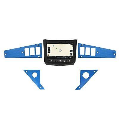 6 Switch BLUE Ride Command Dash Panel Kit Polaris XP1000