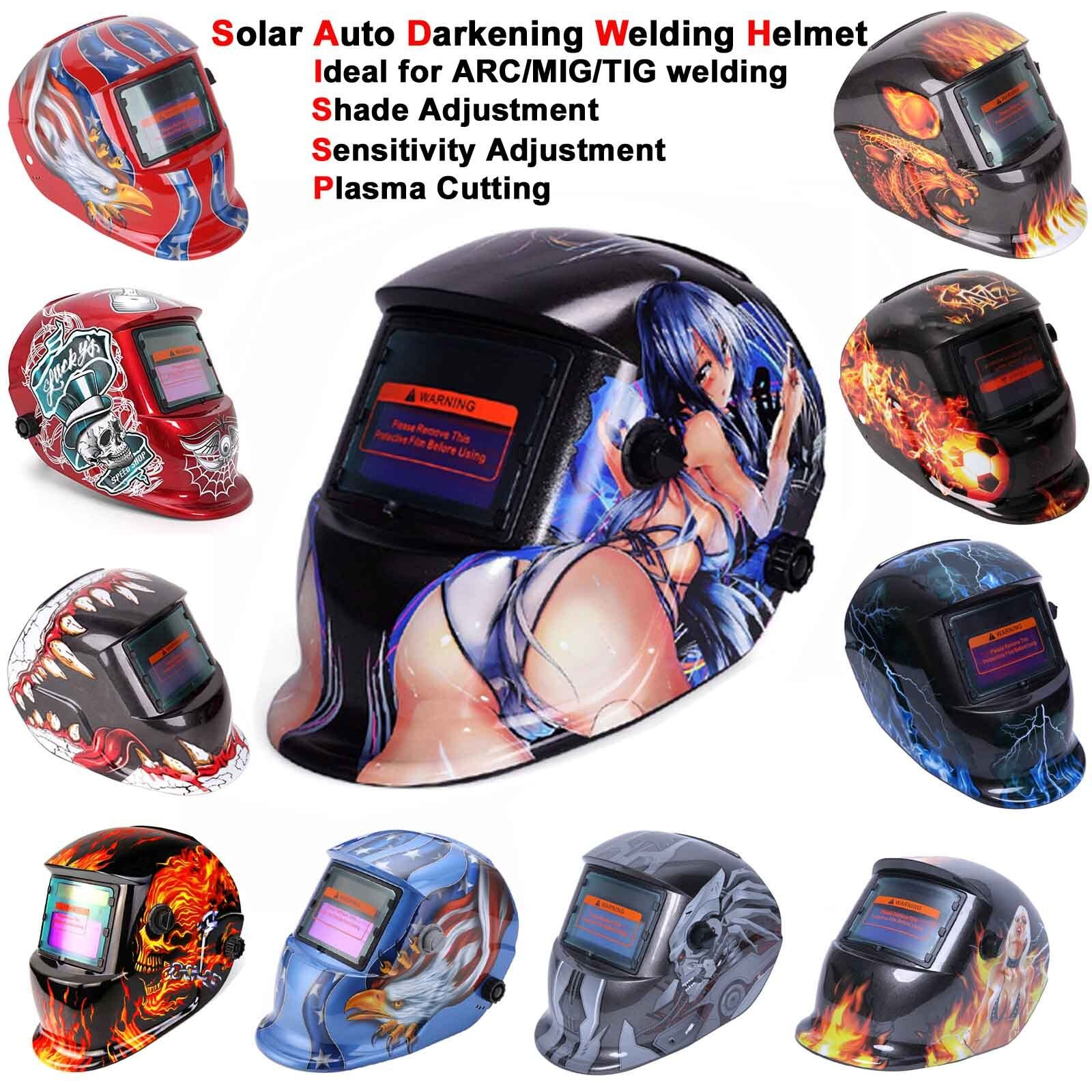 New Pro Solar Welding Helmet Auto Darkening Arc Tig Mig Grinding Welders Mask