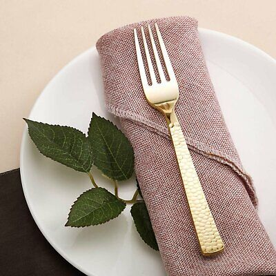 Gold Plastic Cutlery (24 Pack Disposable Plastic Cutlery | 7