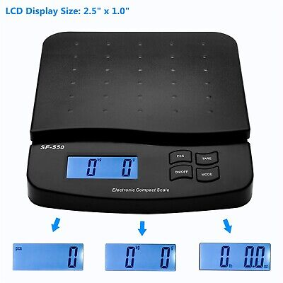 Postal Scale Digital Shipping Electronic Mail Packages W Adapter Capacity 66lb