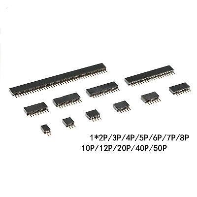 1.27mm Female Pins Sockets Sil 40 Pin Header Single Row Pcb Connector Headers