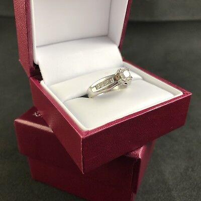 Helzberg Masterpiece Diamonds 18K White Gold GIA Graded Engagement Ring 6.25