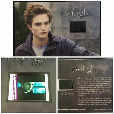 Twilight Robert Pattinson Limited Edition Film Cell #8 Numbered