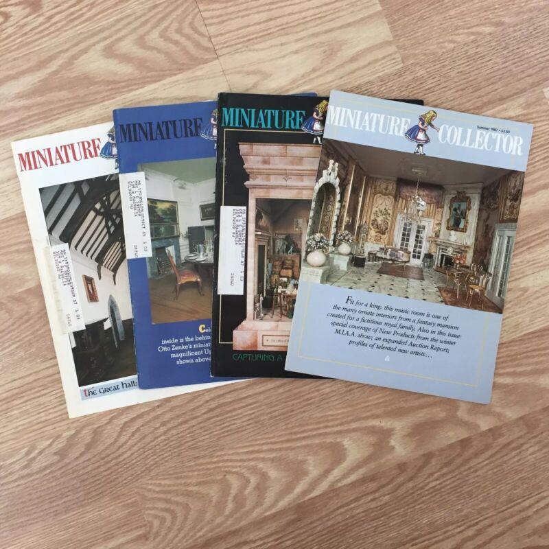 4 VTG Dollhouse MINIATURE COLLECTOR Magazines Summer, Fall, Jan-Feb 1985-