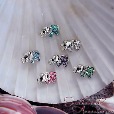 Elephant Toe Ring On A Stretch Illusion Band Your Choice In Color Of Crystals