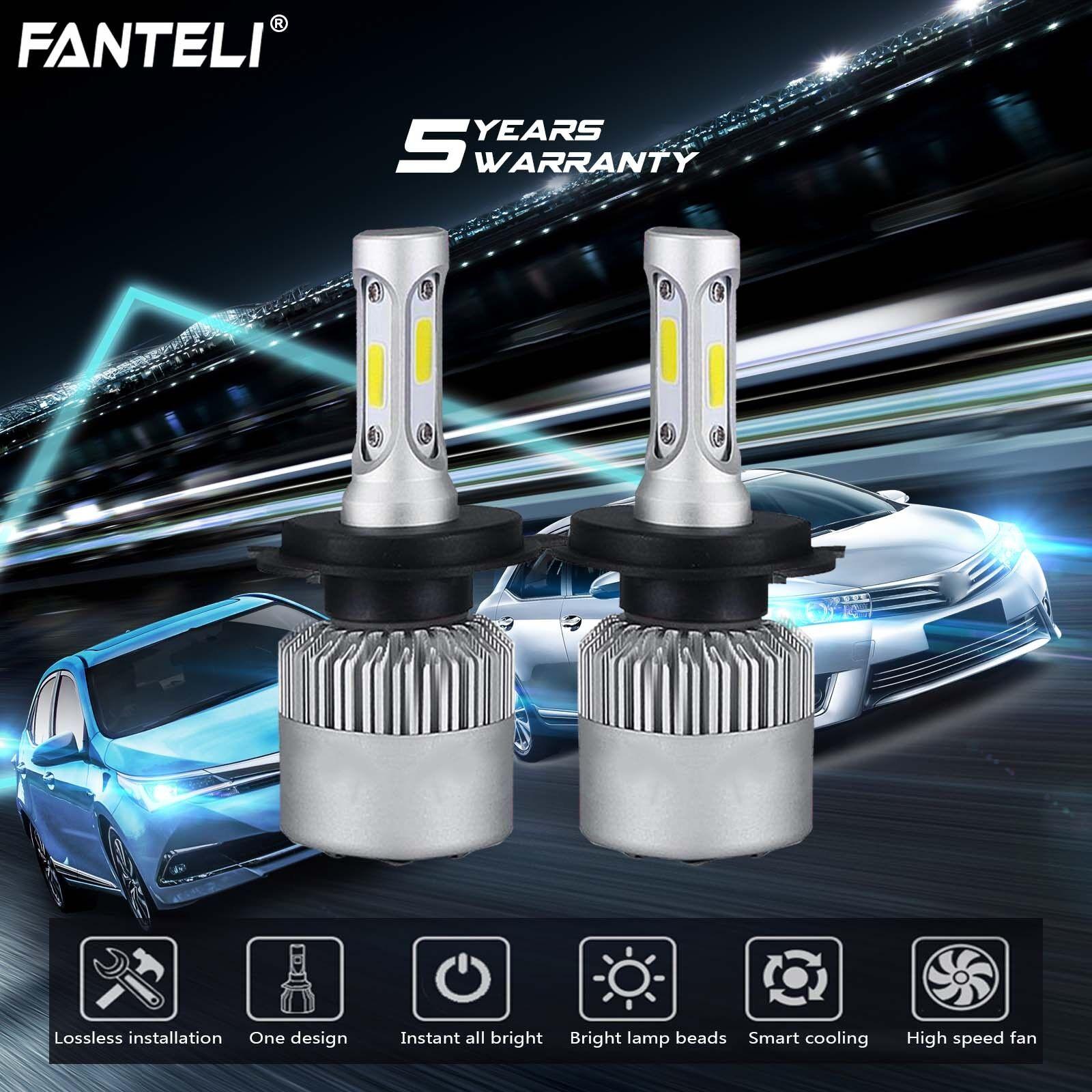 H13 9008 CREE LED Headlight Conversion Kit 1950W 278250LM HI-LO Beam Bulbs 6000K