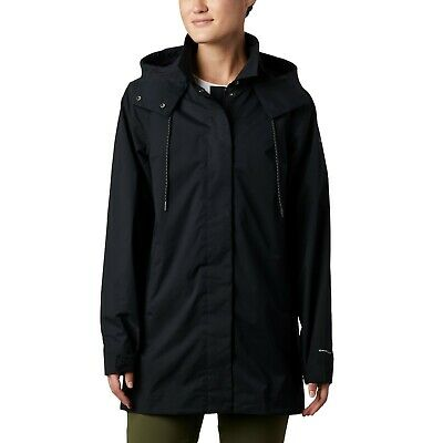 Columbia East Park Mackintosh Hooded jacket, Women's Size L, Black NEW