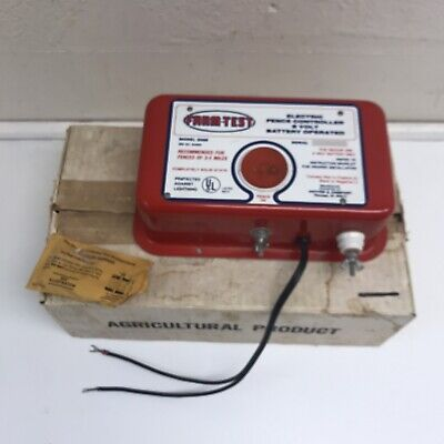 Farm-test Model 2068 6 Volt Battery Operated Electric Fence Controller