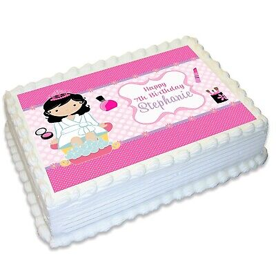 Pamper Spa Party A4 Edible Icing Cake Topper](Spa Party Cakes)