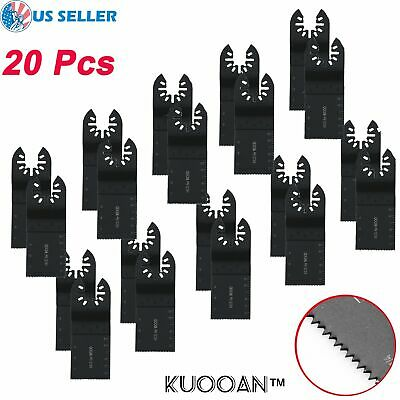20 Pack Universal 34mm Oscillating Multi Tool Saw Blades Carbon Steel Cutter Diy