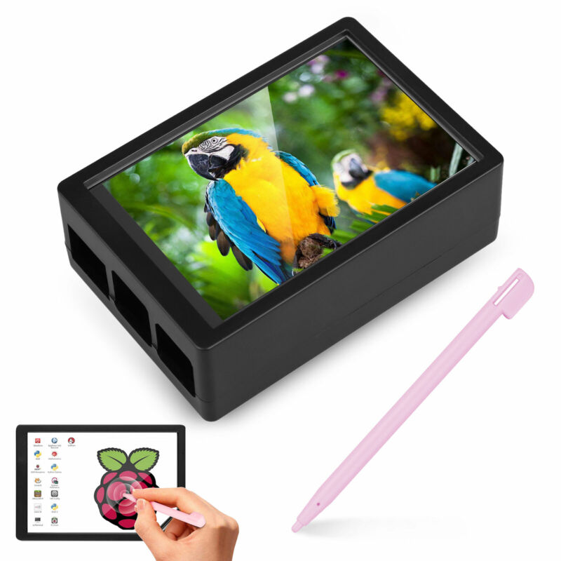 """3.5"""" Inch Touch Screen Monitor LCD Display 480x320 For Raspberry Pi 4+ Case+ Pen"""