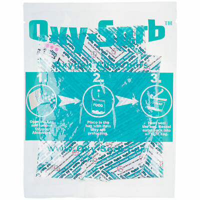 Oxy-Sorb 100 Pack Oxygen Absorbers for Dehydrated Food & Grain Emergency Storage Business & Industrial