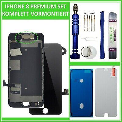 LCD Display für iPhone 8 RETINA 3D HD BILDSCHIRM FRONT VORMONTIERT SCHWARZ BLACK