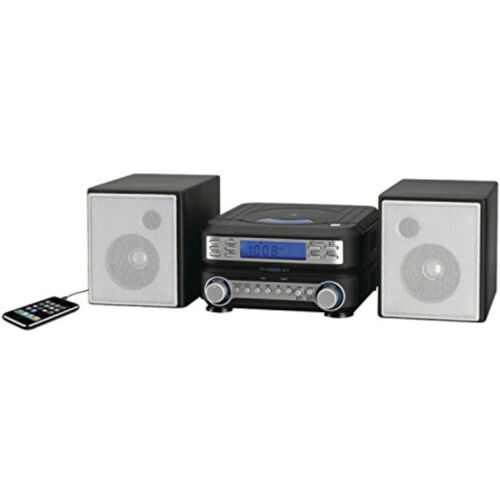 Home Stereo System AM FM Radio CD Player Shelf Speakers Bookshelf Aux-In Remote