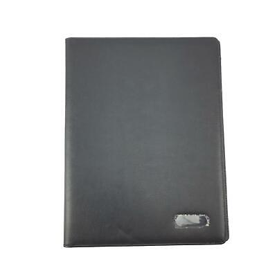 Black Portfolio Folder - Padfolio - Resume - Business Organizer - Zippered...