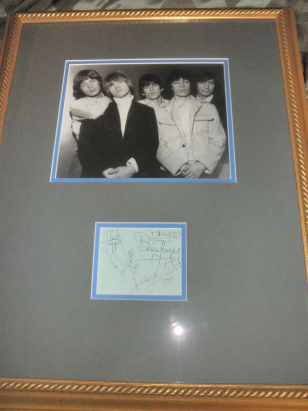 ROLLING STONES SIGNED ALBUM PAGE BY ALL 5! 2 COA