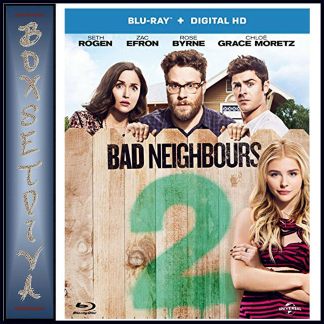 BAD NEIGHBOURS 2 -  Zac Efron & Seth Rogen  **BRAND NEW BLURAY**