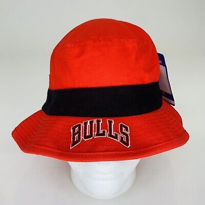 Chicago Bulls NBA Adidas Red Cotton Bucket Hat Sun Cap Size Large / XL NWT