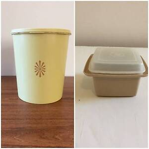 Vintage Tupperware Savalier Canister and Jam Container Retro Northcote Darebin Area Preview
