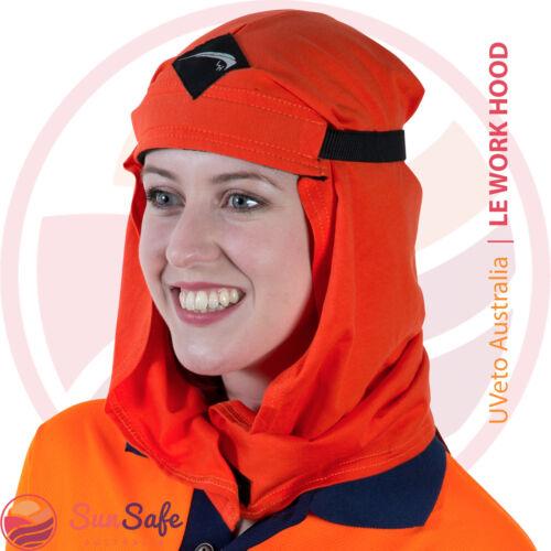 Le Work Hood UPF 50+ UVeto Australia Sun Protection Head Neck Cover Welding Wrap