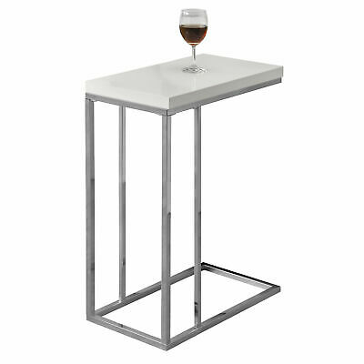 Monarch Specialties I 3008, Accent Table, Chrome Metal, Glos