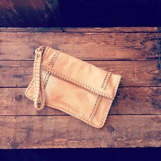 Gorgeous soft leather boho clutches ❤️