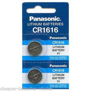 2-PANASONIC-CR1616-ECR1616-CR-1616-3v-Lithium-battery