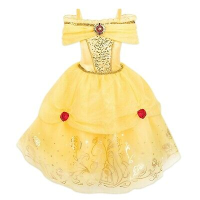Belle Disney Dress (Disney Authentic Belle Deluxe Princess Costume Dress Girls Size 3 4)