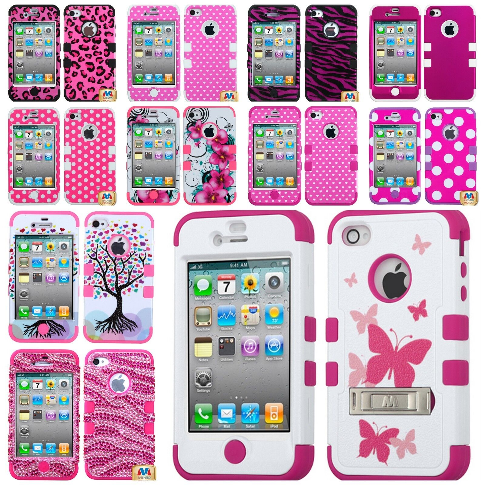 iphone 4s cases ebay for iphone 4 4g 4s amp soft rubber hybrid armor skin 14425