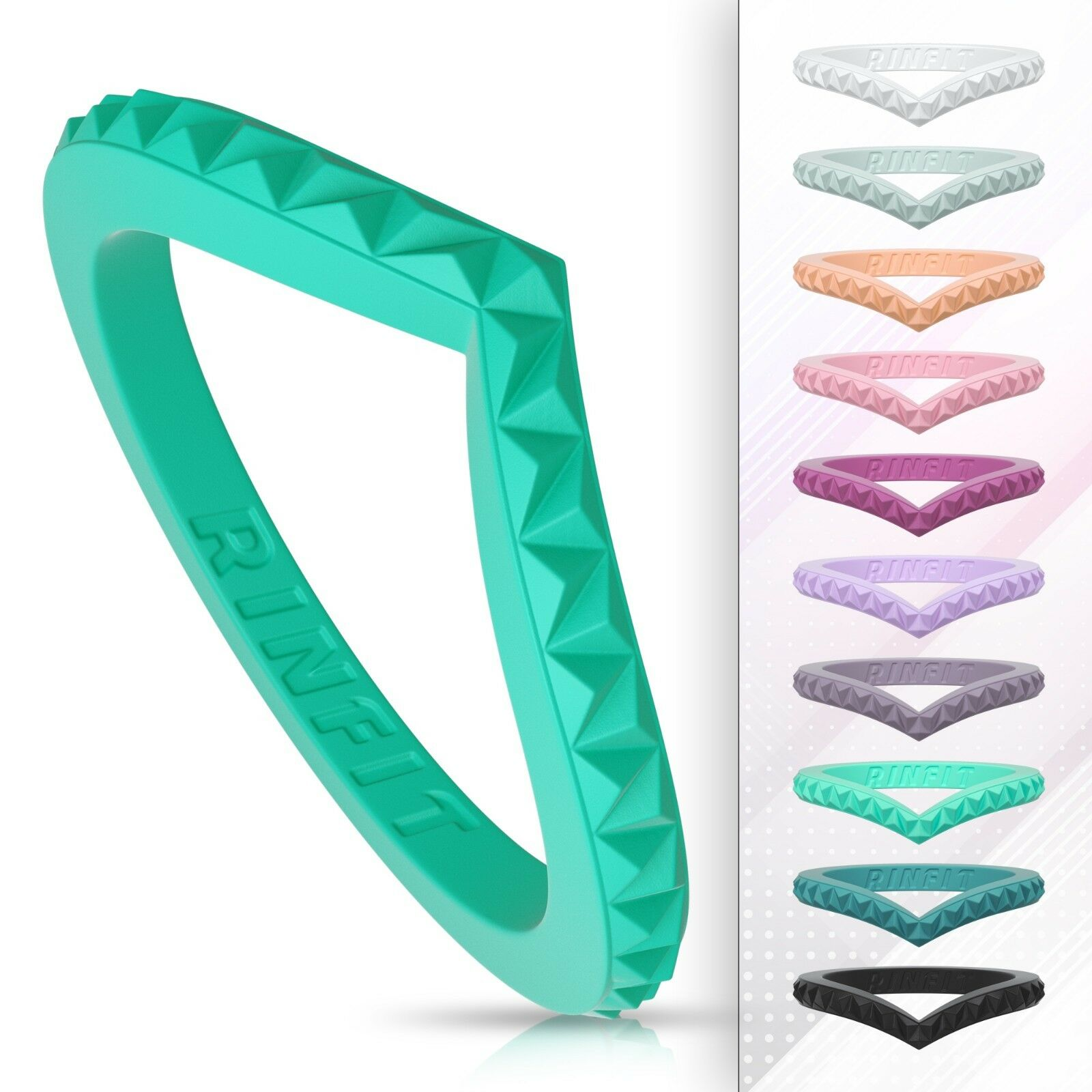unique stackable silicone wedding rings wedding bands