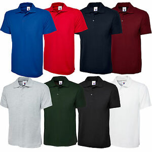 New-Mens-Womens-Olympic-Plain-Polo-Shirt-Short-Sleeve-Casual-Sport-Leisure