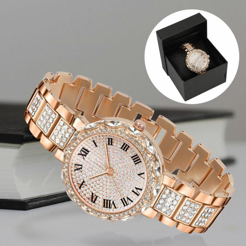 Fashion Bracelet Wrist Watch for Woman Ladies Silver Rose Gold Luxury Waterproof