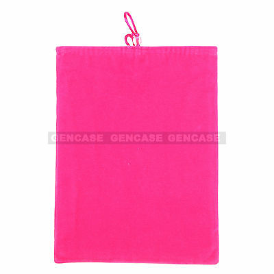 New  Universal 9'' Velvet Pouch Bag Sleeve Cover Case For iPad, Tablet -HOT PINK ()