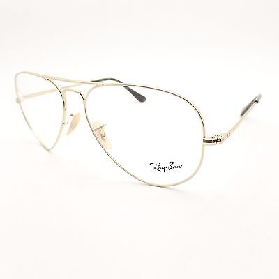 Ray Ban RB 6489 2500 Gold Eyeglass Frame New Authentic (Gold Frame Ray Ban Eyeglasses)