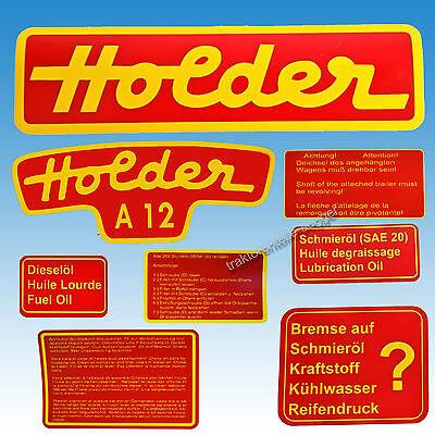 Aufkleber - Satz Holder A 12 8-teilig Traktor Schlepper 01582