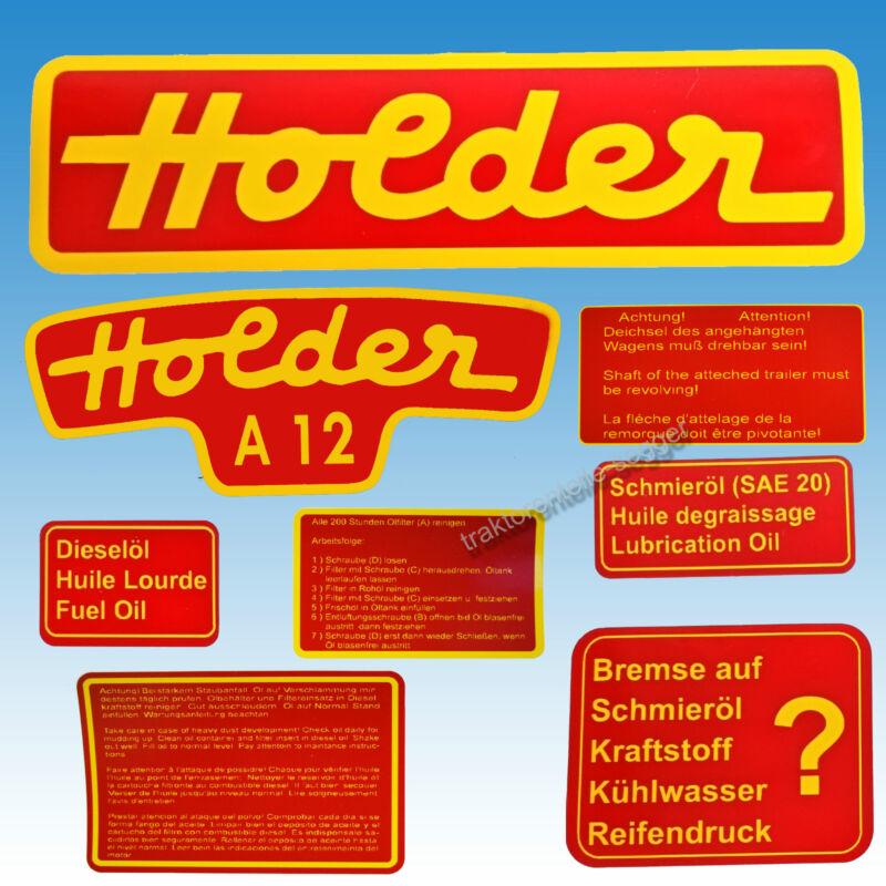 Aufkleber - Satz Holder A 12 8-teilig Traktor Schlepper 01582 Foto 1