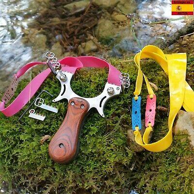 Tirachinas slingshot deportivo de acero profesional caza pesca competición