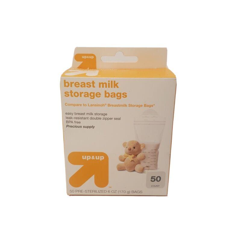 Up & Up Breast Milk Storage Bags BPA Free 6 oz 50 ct   Target Brand