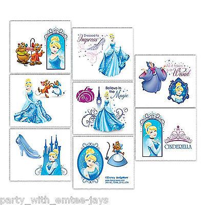 Cinderella Tattoos - Cinderella Birthday Party - Birthday Ideas Favours Loot Bag](Disney Birthday Party Ideas)