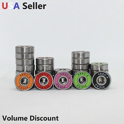 Skateboard Abec 9 608-2RS Ball Bearings 8x22x7 Rubber Sealed 608RS 8 PCS