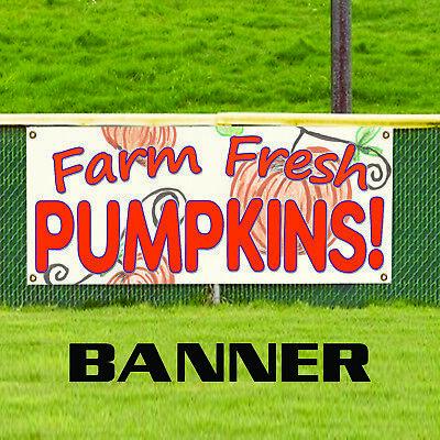 Farm Fresh Halloween Pumpkins For Sale Retail Advertising Vinyl Banner Sign](Halloween Retail Sales)