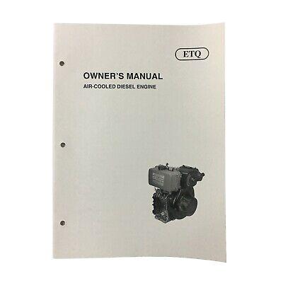 Etq Air-cooled Diesel Engine Owners Manual