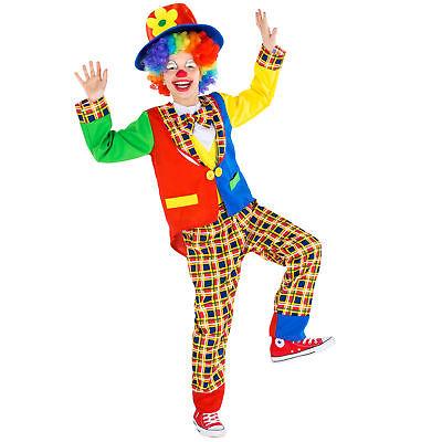 Costume da Bambini Clown Pagliaccio Circo Unisex Vestito Carnevale Halloween