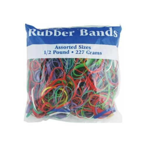 Multicolor Rubber Bands, Assorted Large, Medium, Small Sizes & Thickness