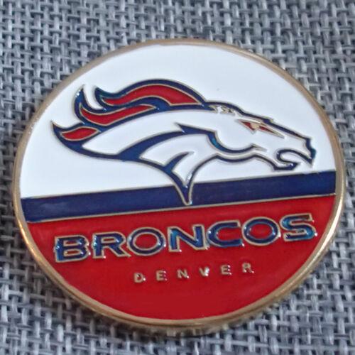 NFL Denver Broncos Poker Chip Card Guard Challenge Coin Golf Marker