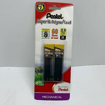 Pentel Super Hi-polymer Lead 0.9 Mm 2b One Pack 2 Tubes 60 Pieces