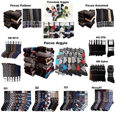 Men Socks Lot Dress Socks 6-12P Fashion Casual Pattern Desig