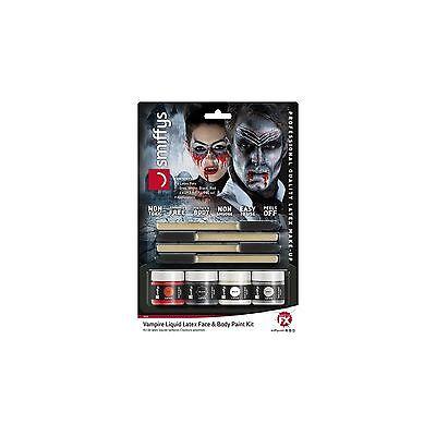 Latex Body Paint (Smiffys Vampire Liquid Latex Face & Body Paint Kit)